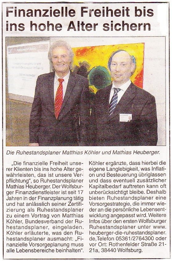 Mathias Heuberger Wolfsburger Kurier